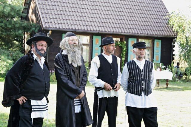 Men in Radzanow recreate Jewish wedding. (credit: JONNY DANIELS)