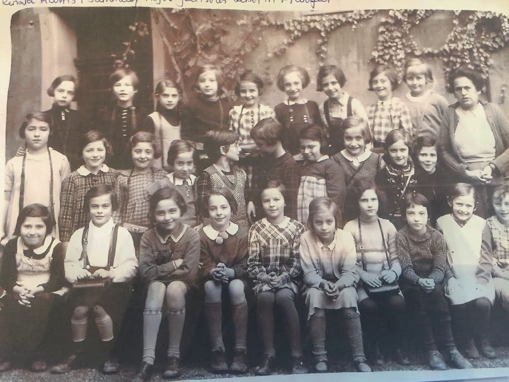 What may be Holocaust victim Karolina Cohn's class picture from 1936 (TAMARA ZIEVE)