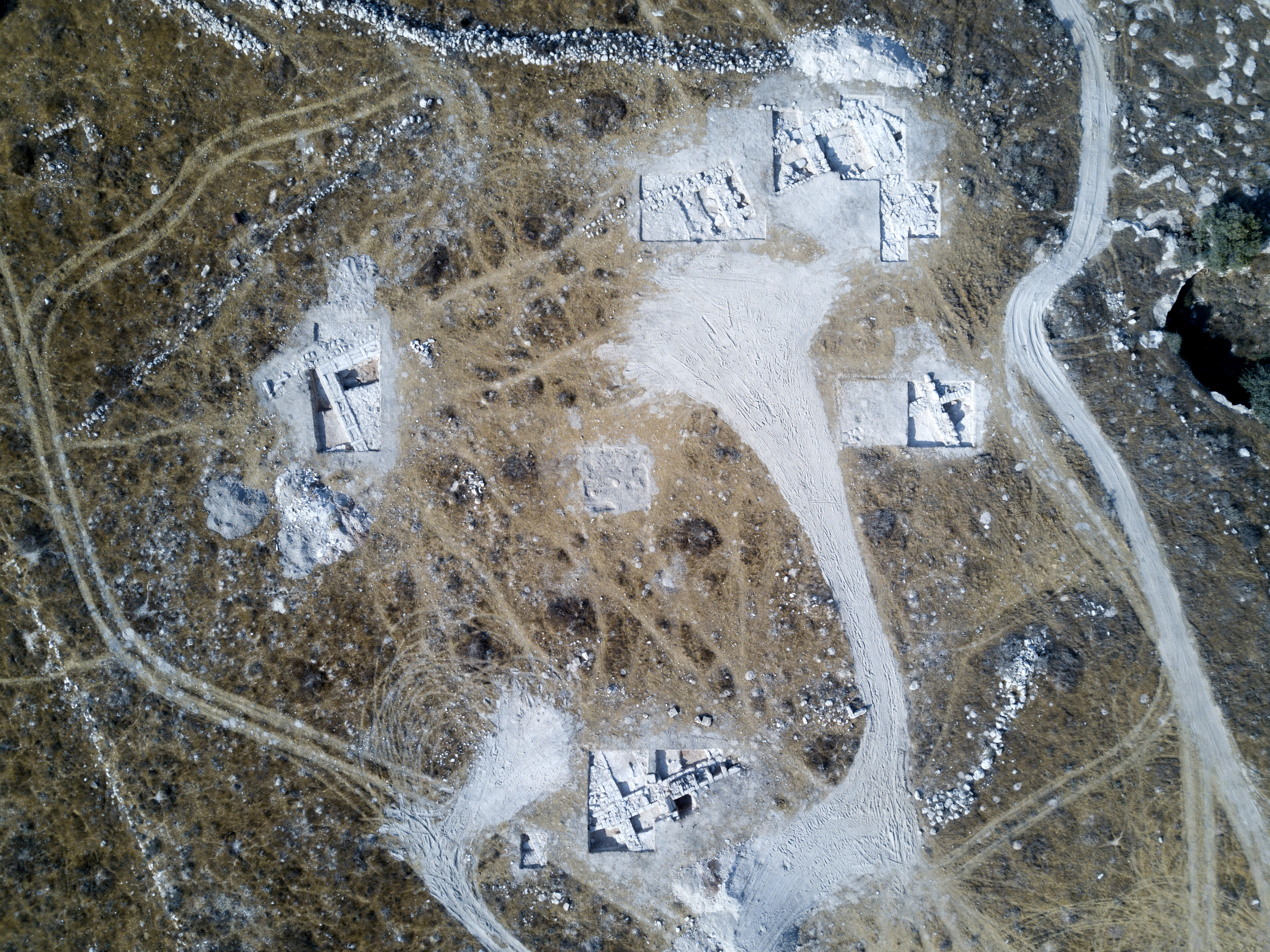 An aerial view of the excavation site (DANE CHRISTENSEN)