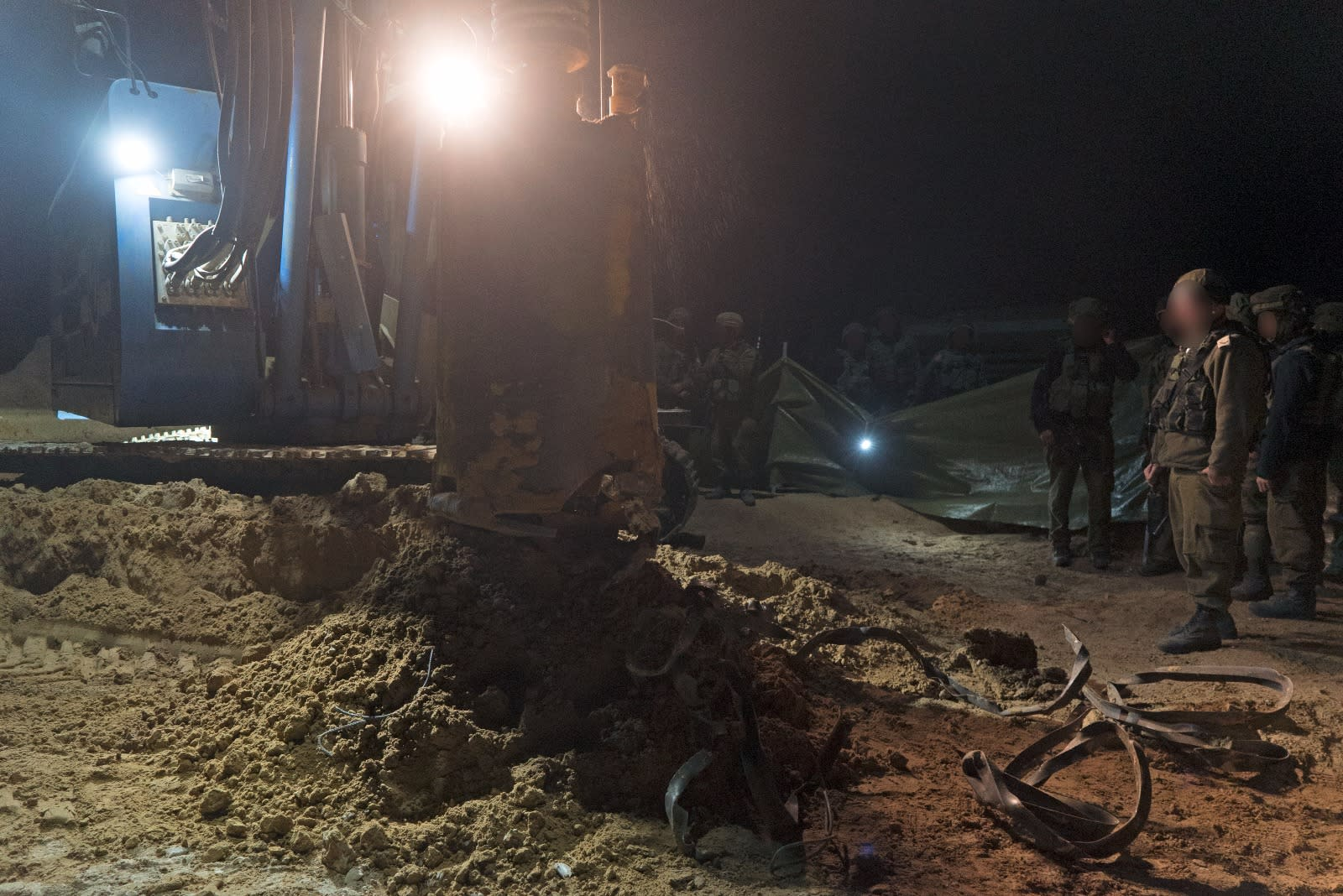 IDF forces destroy a cross-border Hamas tunnel on December 9, 2017. (IDF SPOKESMAN'S UNIT)
