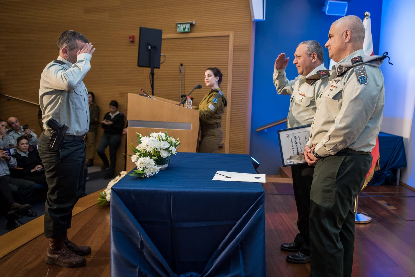 IDF Chief of Staff Gadi Eisenkot speaks at the annual awards for outstanding IDF units. (IDF SPOKESPERSON'S UNIT)