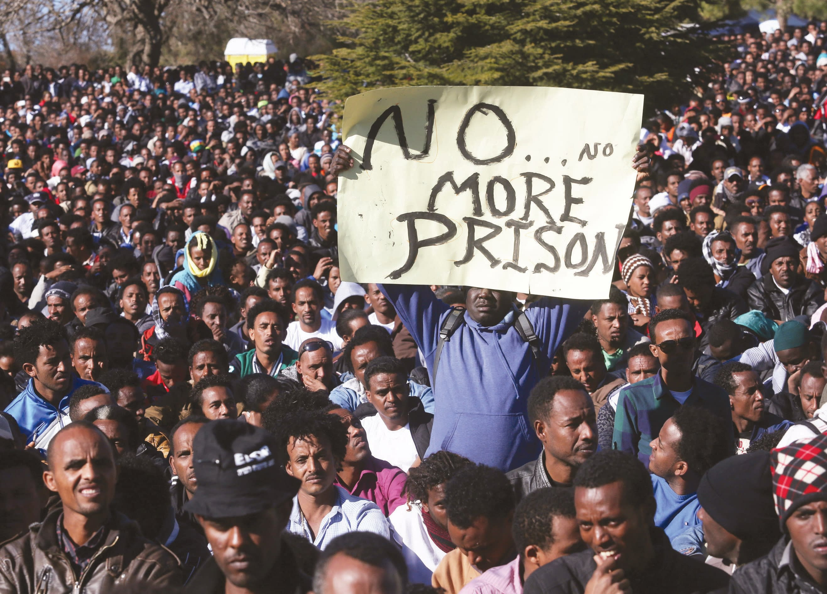 A rally in Jerusalem for African migrants in 2014. (MARC ISRAEL SELLEM)