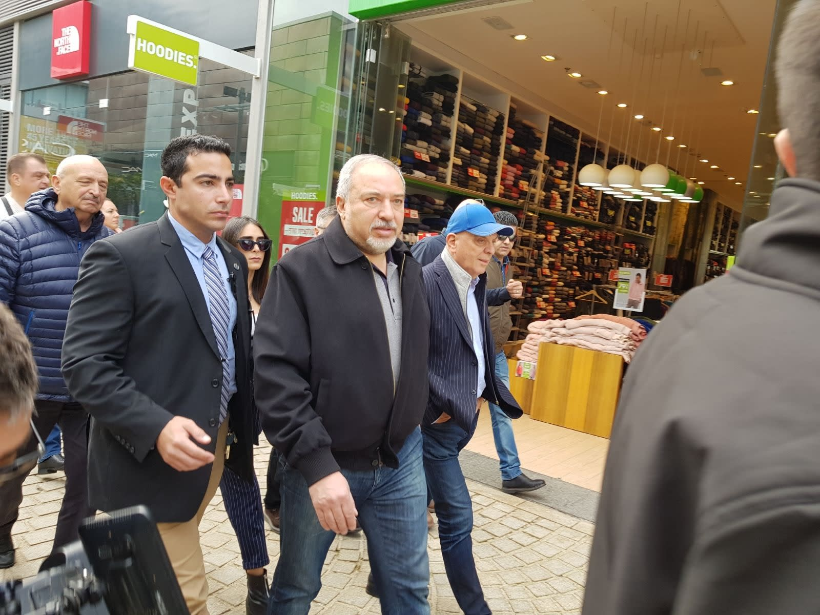 Defense Minister Avigdor Liberman in Ashdod, January 20, 2018 (Courtesy)