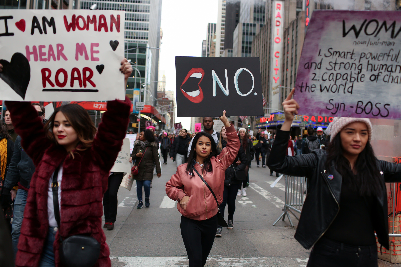 Women's March in Manhattan in New York City (REUTERS/Gabriela Bhaskar)