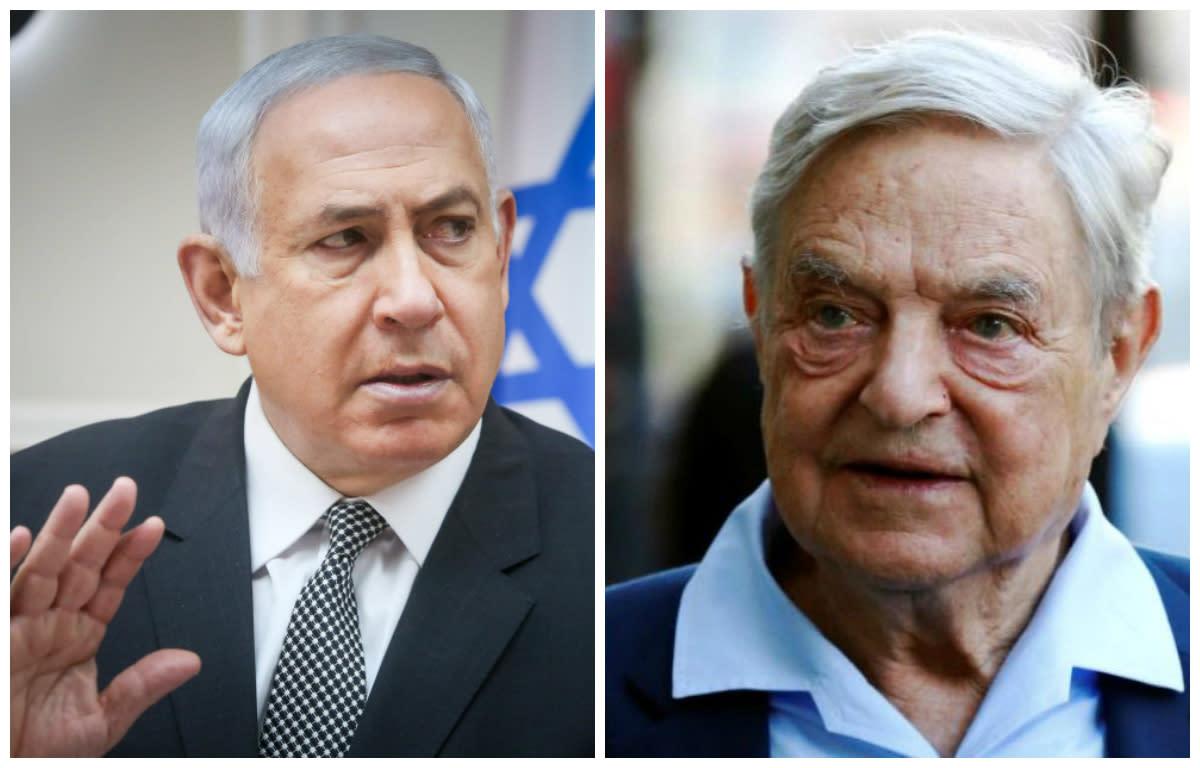 Netanyahu blames Soros for Israel anti-deportation campaign