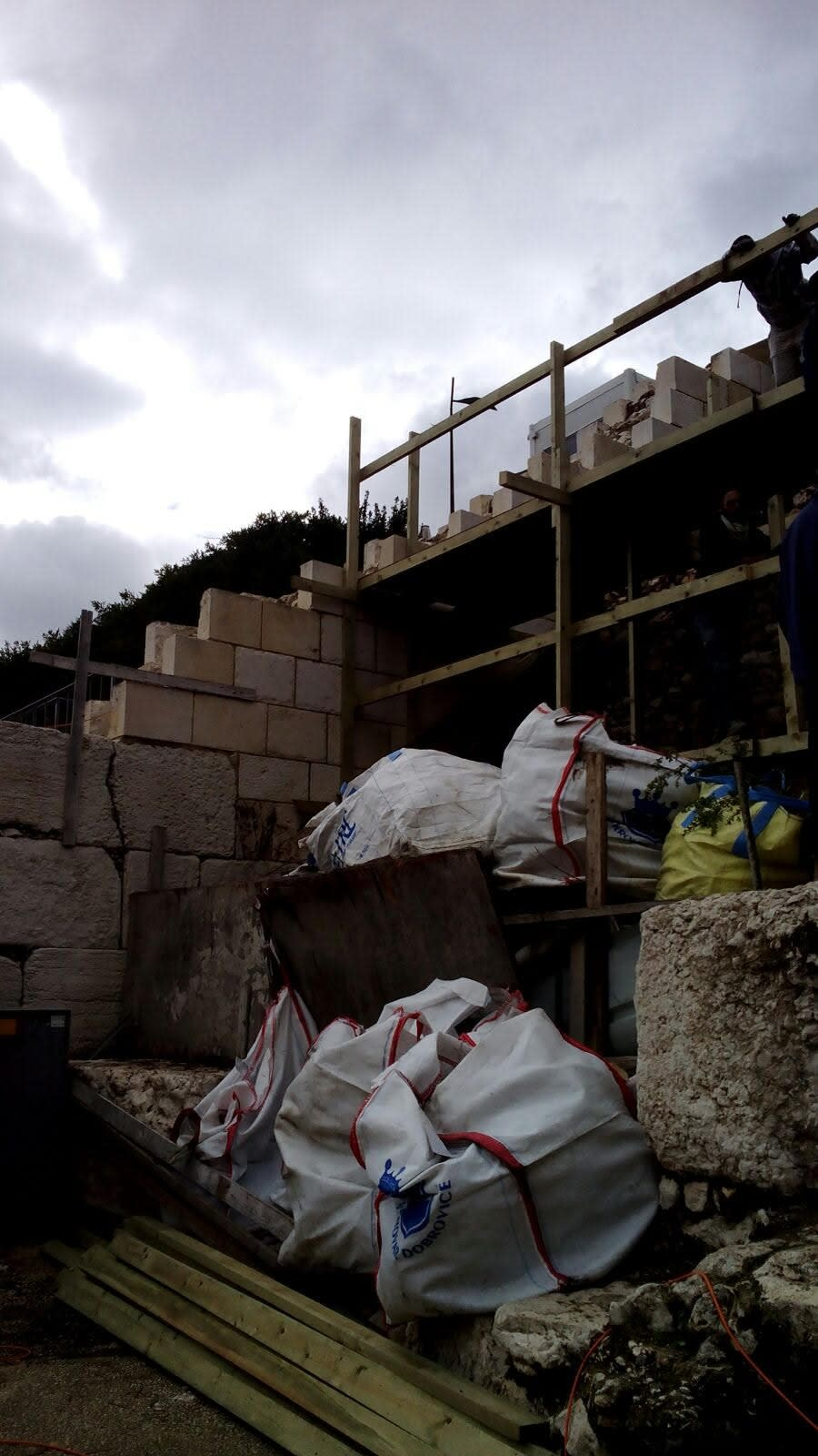 Construction at the Western Wall's egalitarian section, Robinson's Arch (The Masorti Movement in Israel)