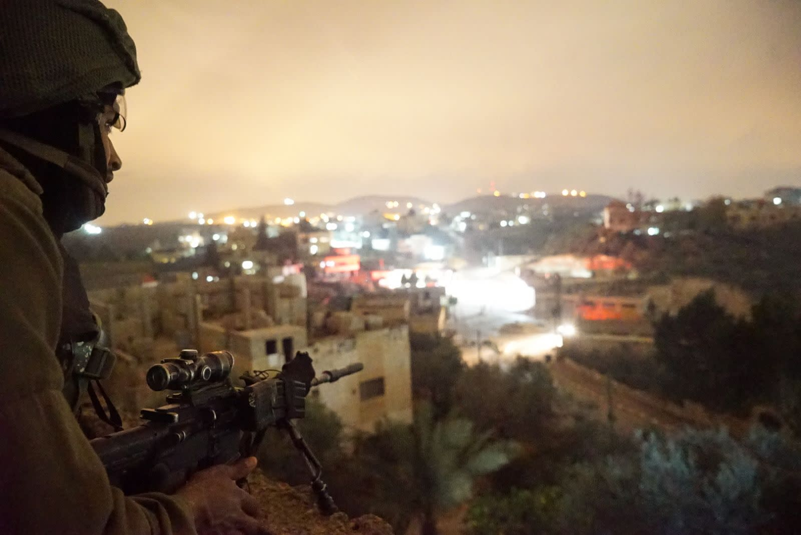 An IDF sniper during the raid on the West Bank village of Al-Yumun. (IDF SPOKESPERSON'S UNIT)