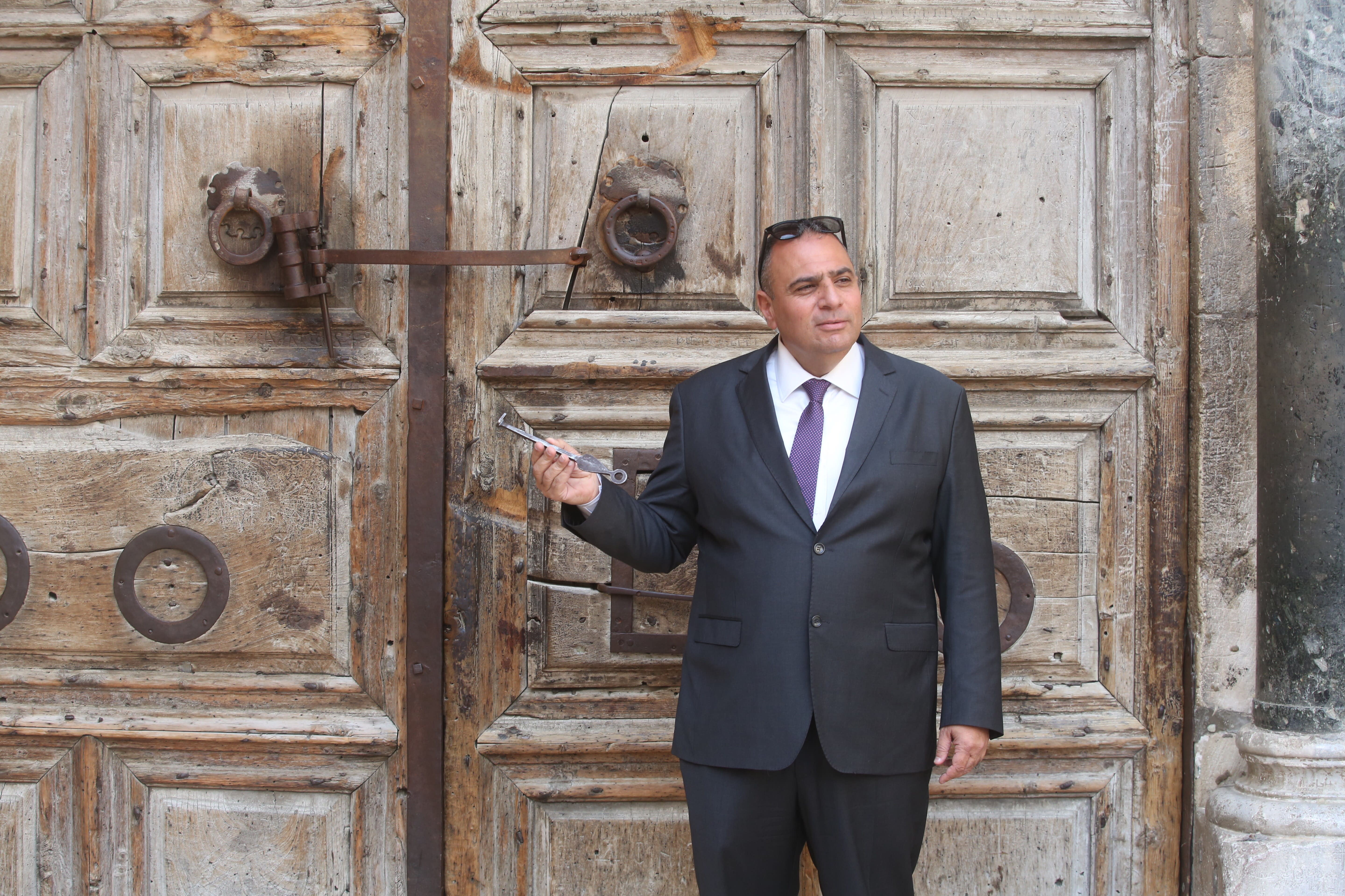 Adeeb Jawad, the custodian of the keys of the Church of the Holy Sepulchre (MARC ISRAEL SELLEM/THE JERUSALEM POST)