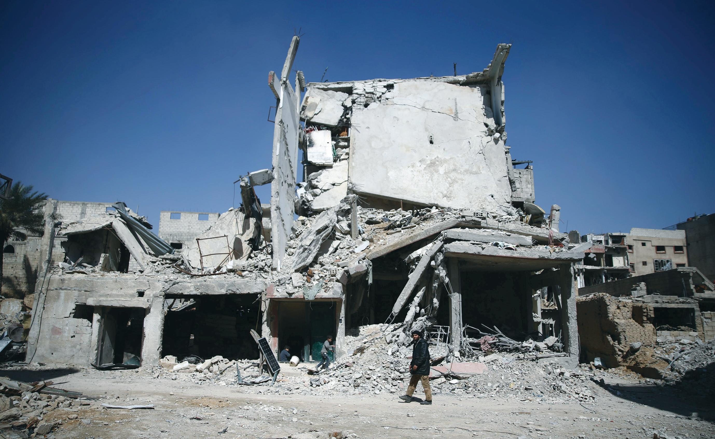 Mass destruction in eastern Ghouta (Reuters)