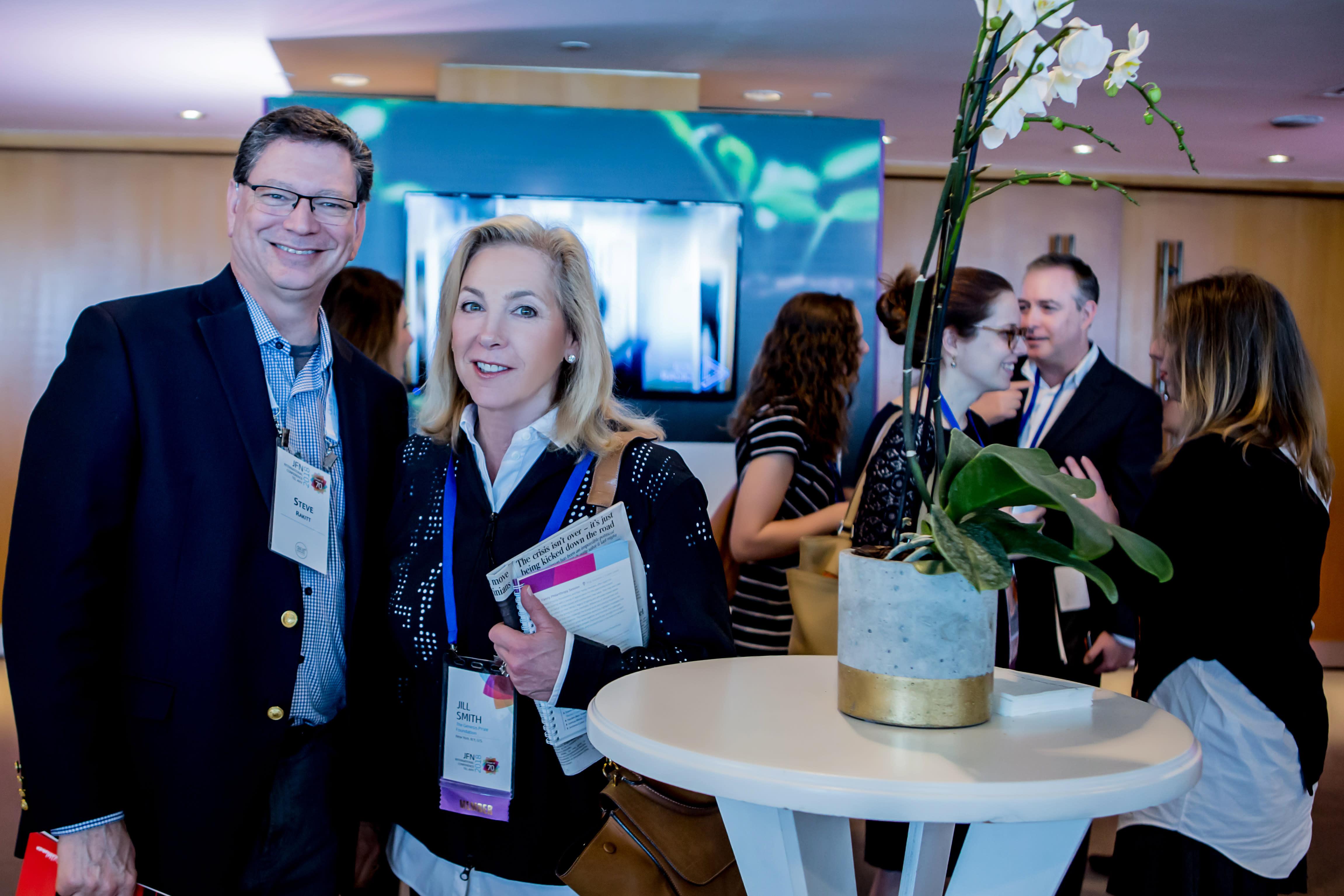 Steve Rakitt, president, Genesis Prize Foundation and Jill Smith, senior adviser to the chairman, Genesis Prize Foundation