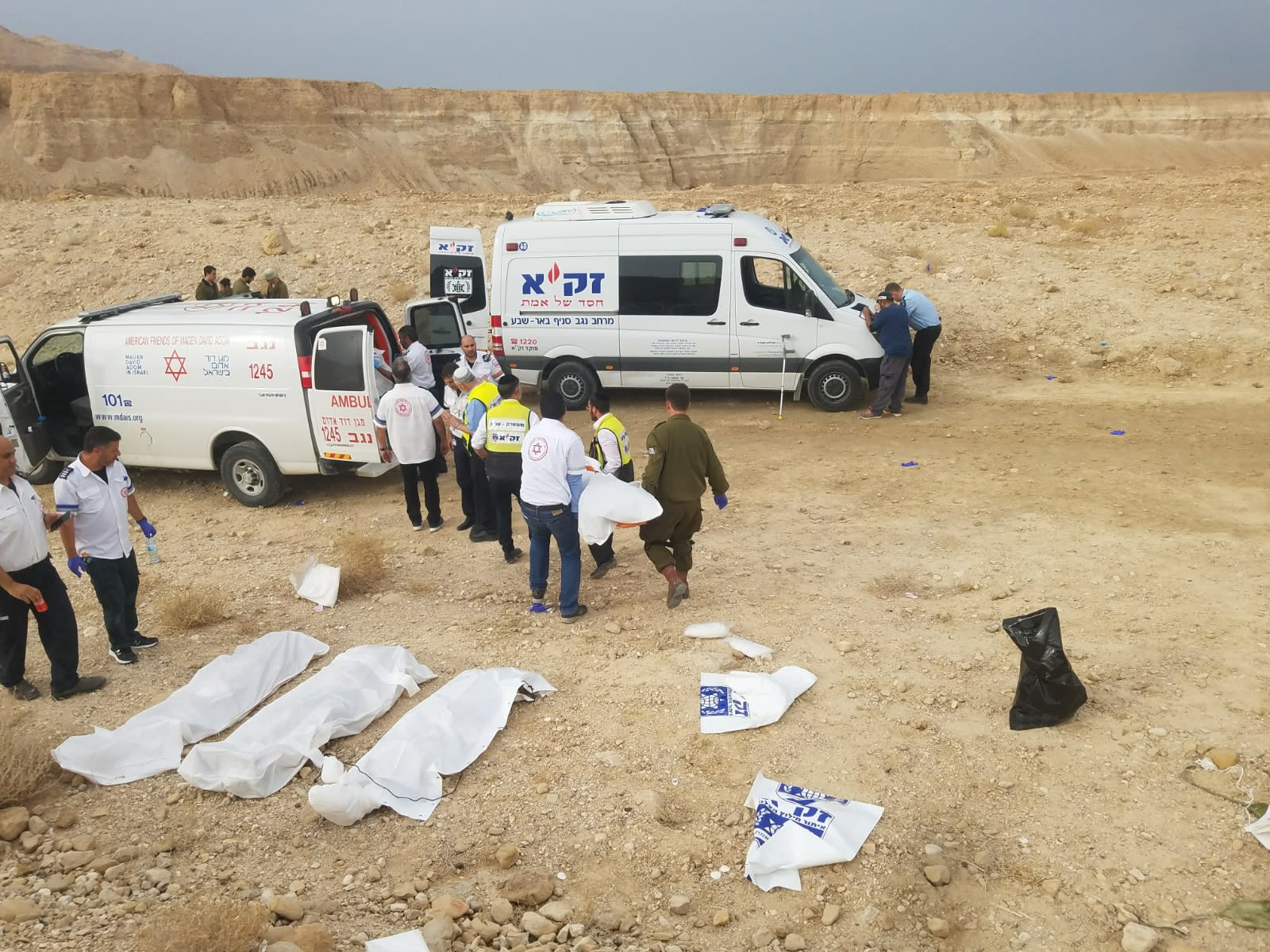Bodies of the students killed in the the tragic hiking accident / Zaka
