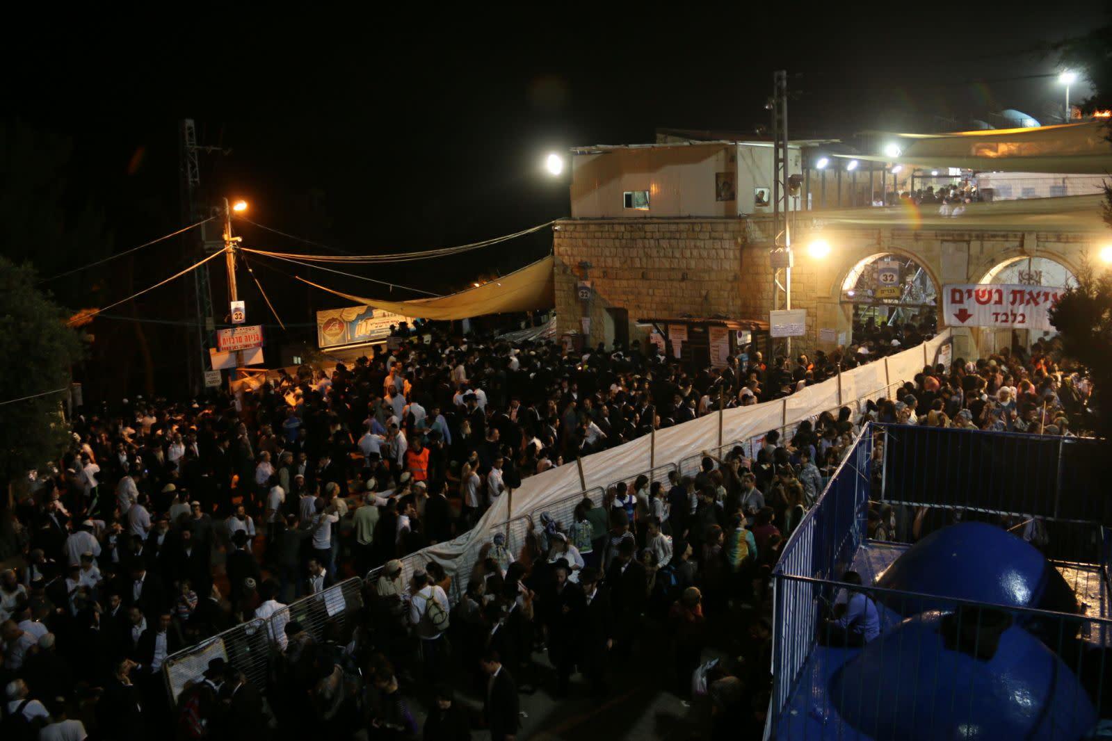 Thousands celebrate Lag BaOmer at the tomb of the Rashbi (Shimon bar Yochai) in the northern Israeli city of Meron (EITAN SHWEIBER/TPS)