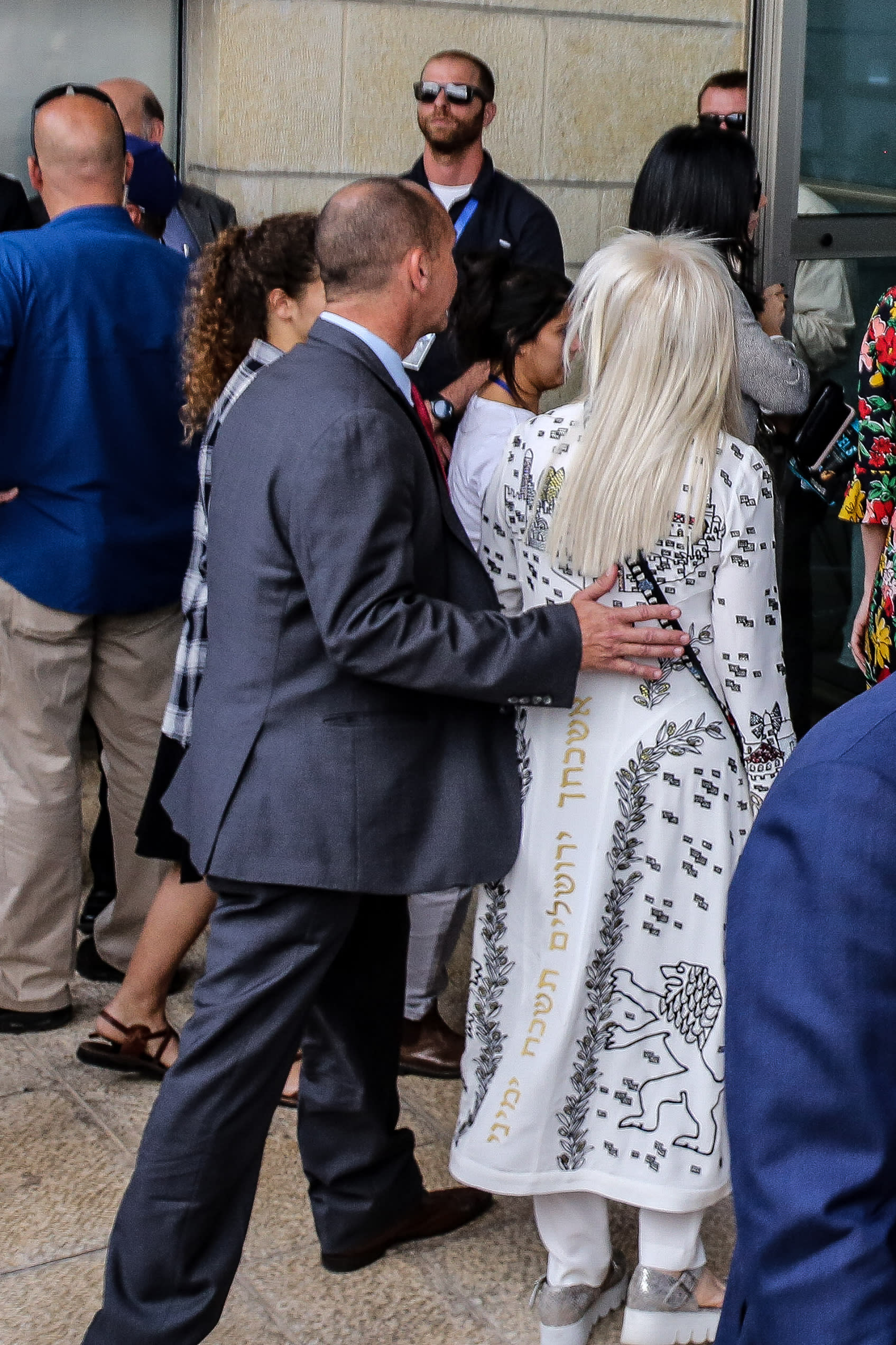 Miriam Adelson at the inauguration of the US embassy in Jerusalem, May 14, 2018 (Marc Israel Sellem/The Jerusalem Post).