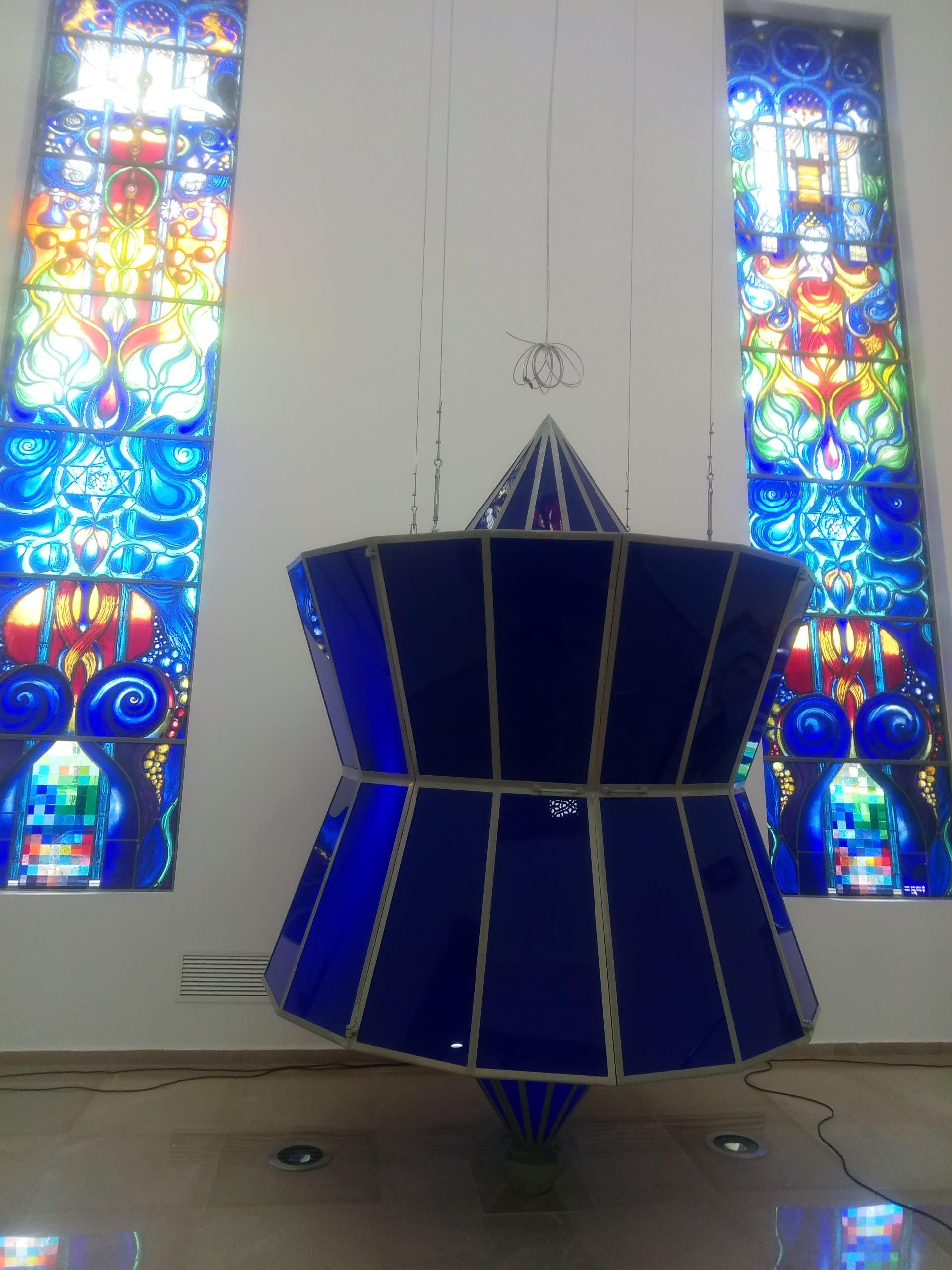 Inside the new synagogue at Sheba Medical Center (COURTESY).