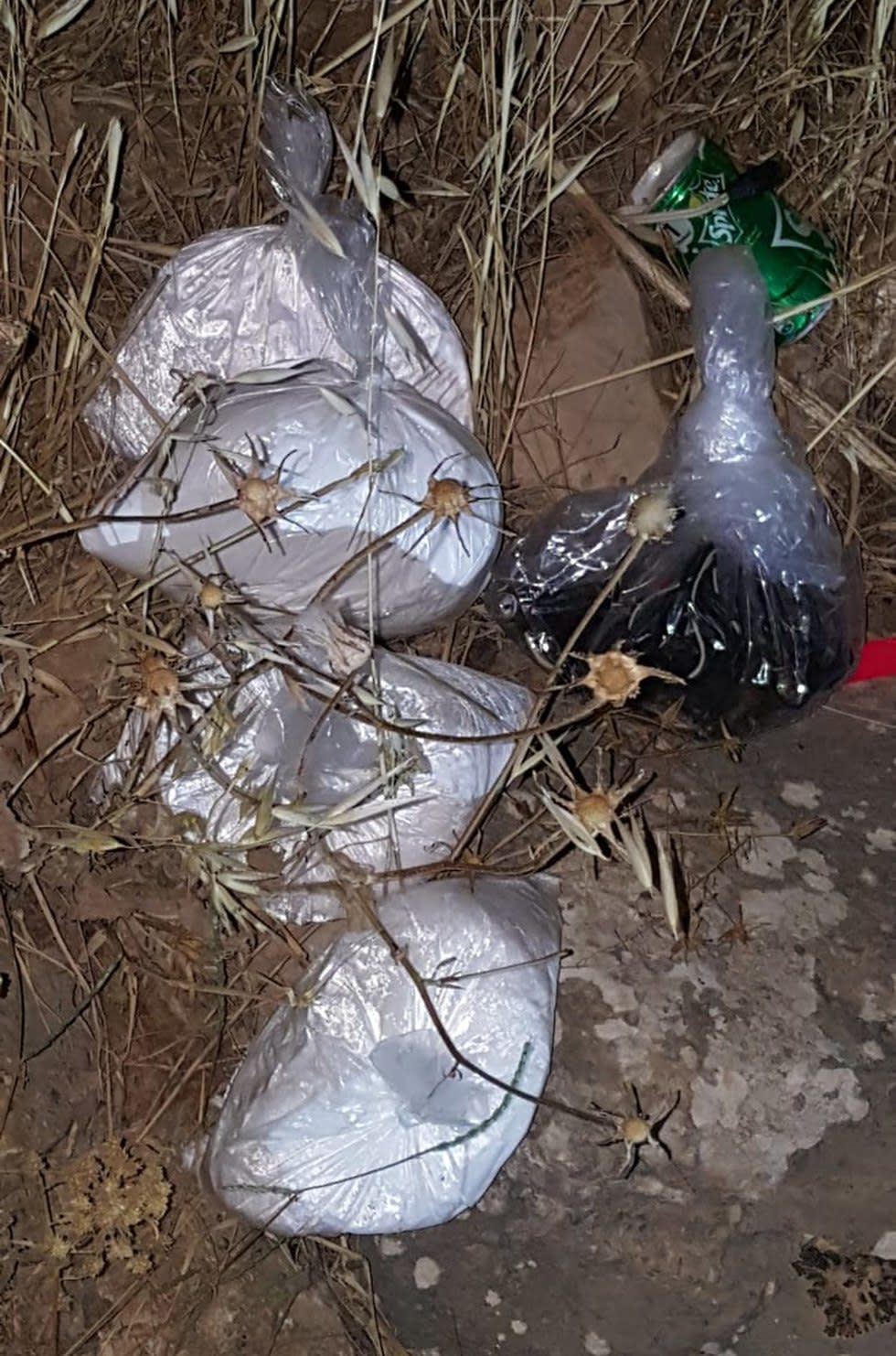 IEDs that were found near Nablus, IDF Spokesperson's Unit