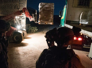 The IDF sends aid to Syrians fleeing Daraa in overnight `Good Neighbor` operation. (IDF Spokesperson's Unit)