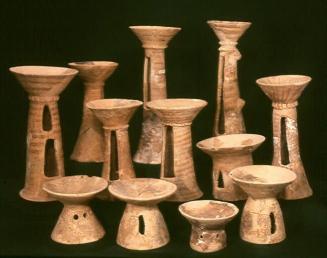 Chalices from the Chalcolithic period excavated at Peki'in cave