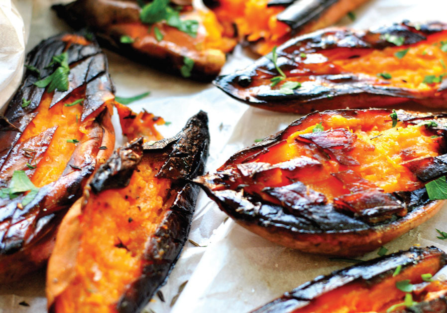 SWEET POTATO IN SILAN AND POMEGRANATE SAUCE (PASCALE PEREZ-RUBIN)