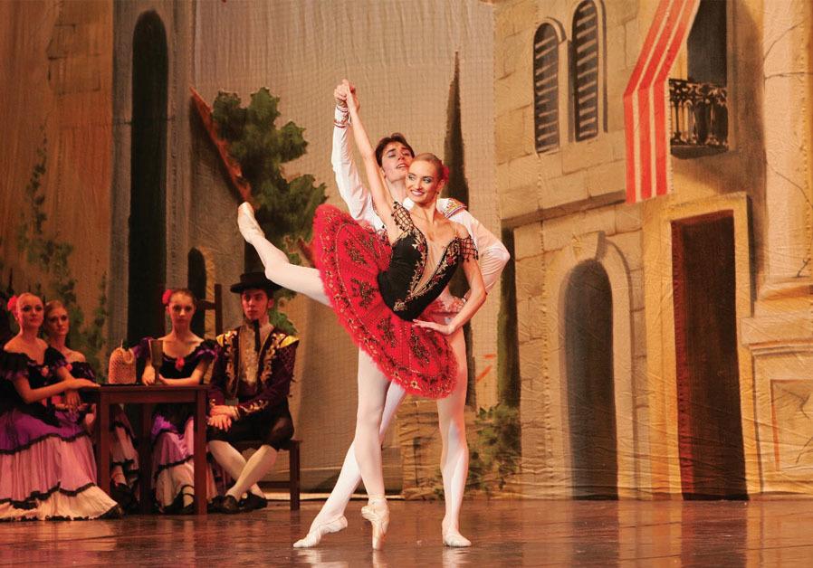 IRINA KOLESNIKOVA as Kitri and Yuri Kovalev as Basil performing Don Quixote. (KT)