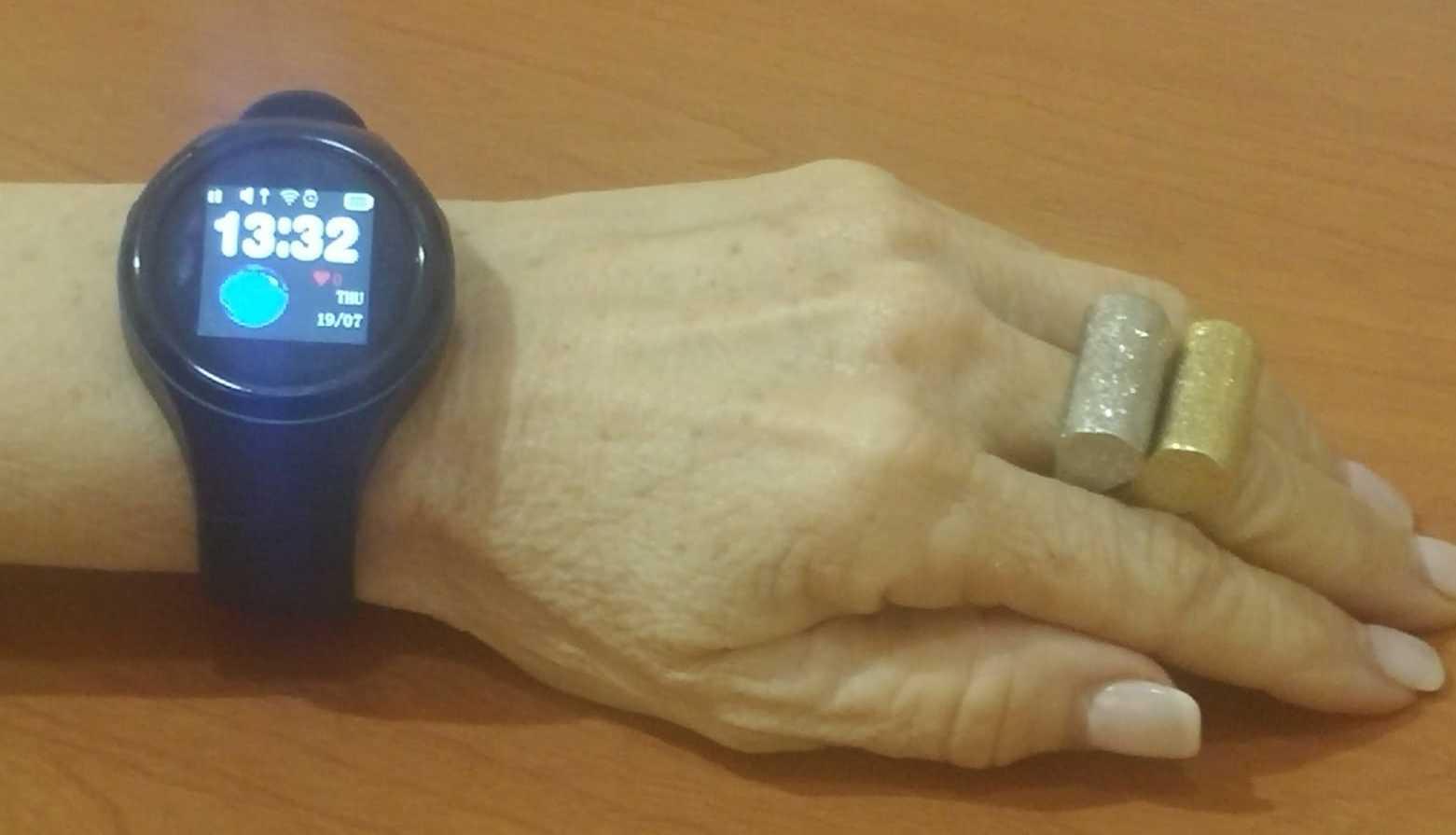 A user wears Audio HaSharon's emergency alert watch.