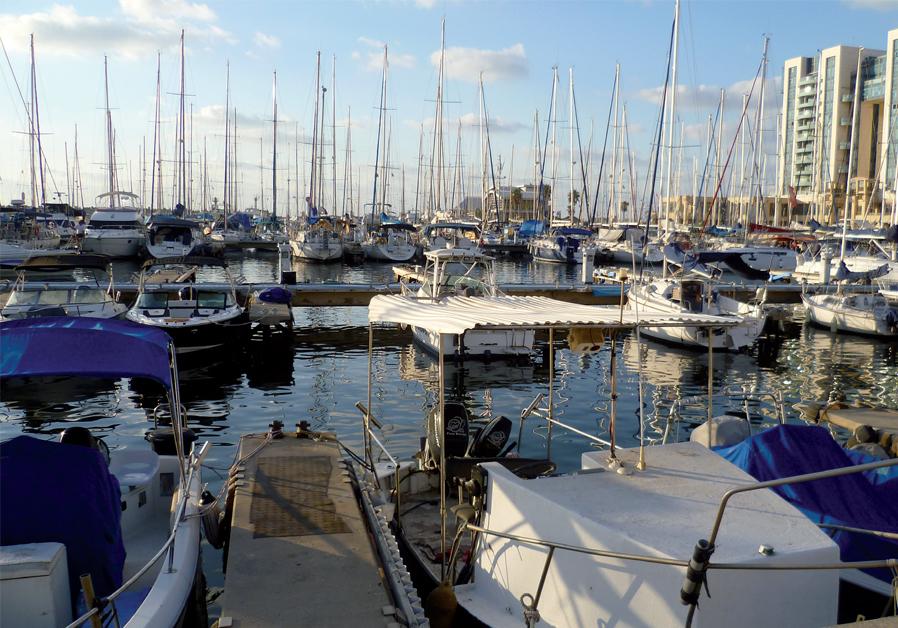 The beautiful view of the Herzliya Marina (credit: Barry Borman)