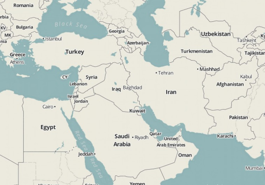 Israel wiped off the map in Middle East atlases Middle East