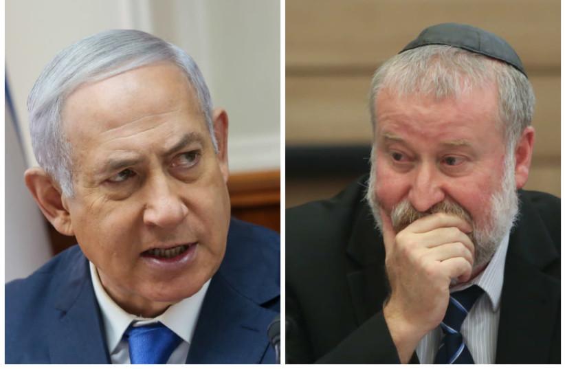 Le Premier ministre Benjamin Netanyahu (à gauche) et le procureur général Avichai Mandelblit (à droite) (crédit: MARC ISRAEL SELLEM / THE JERUSALEM POST)