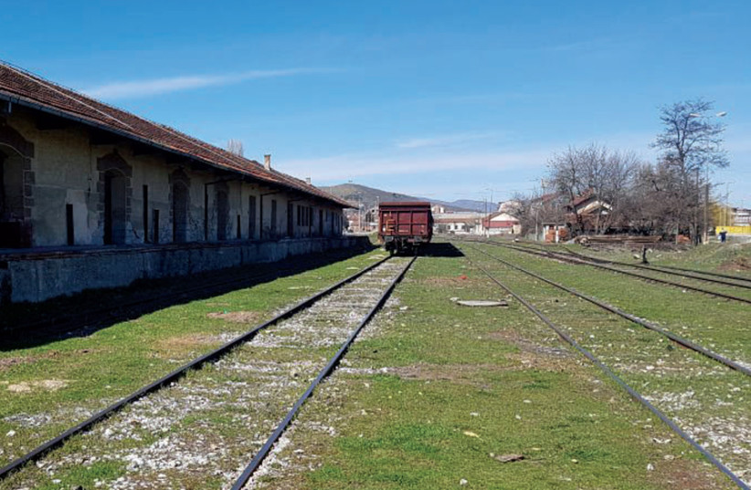 The train station in Macedonia from where Jews were deported to Treblinka (photo credit: ROBERT HERSOWITZ)