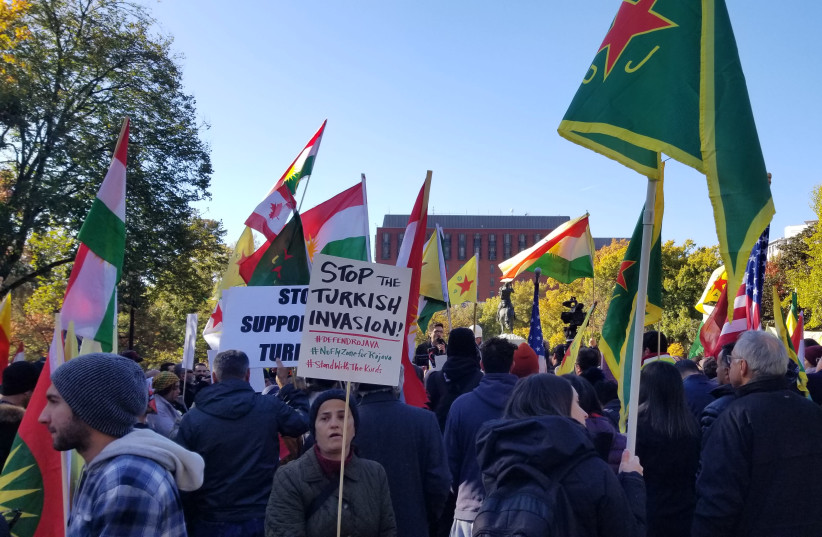 Hundreds protest outside Erdogan-Trump meeting - WORLD NEWS - Jerusalem Post