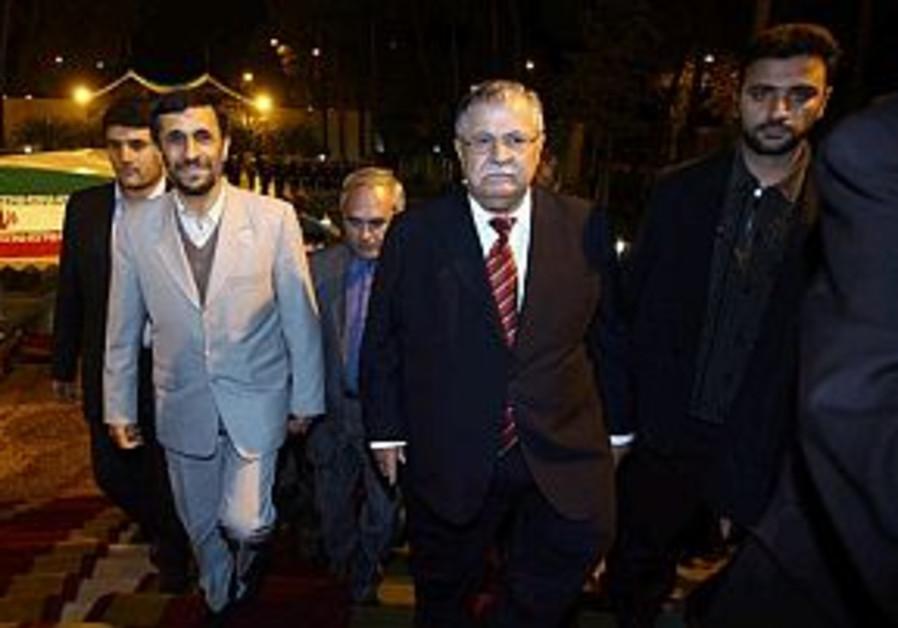 Iraqi president meets Ahmadinejad
