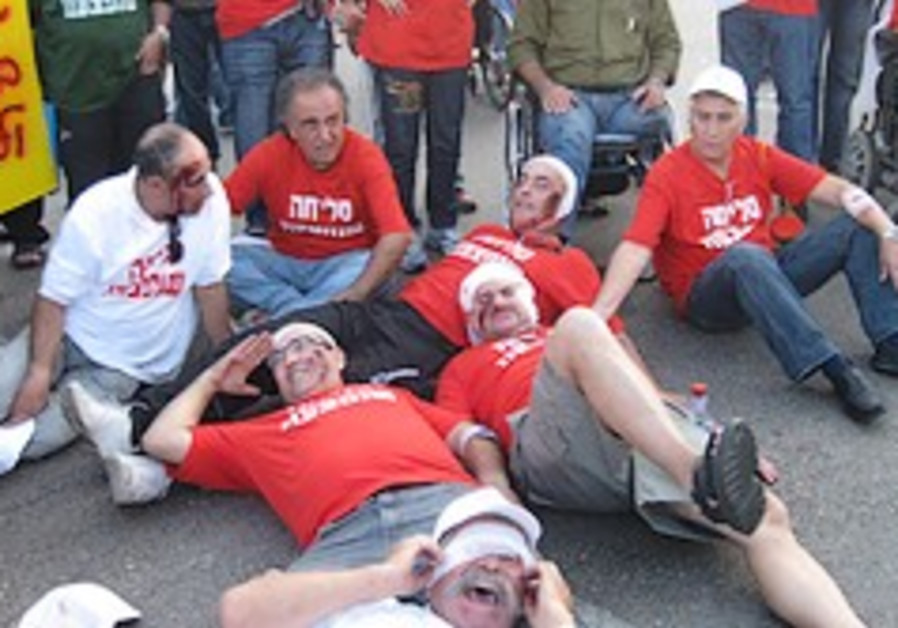 idf disabled veterans protest 248 88