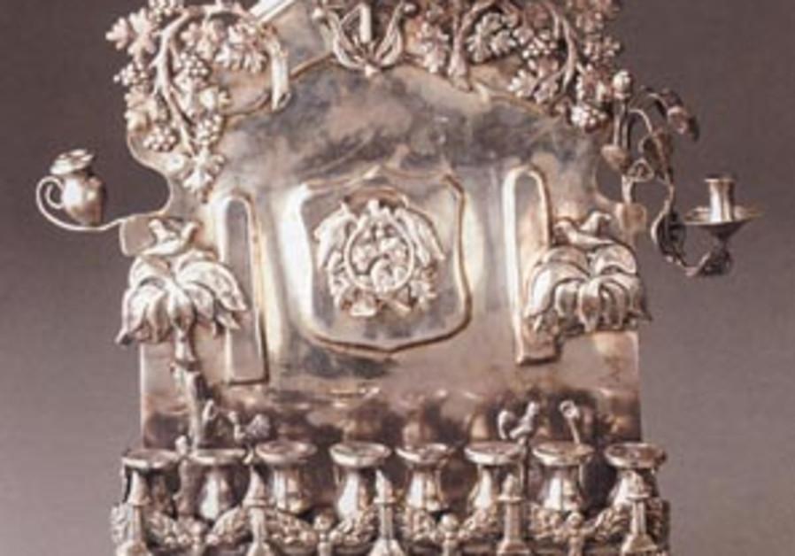 silver menorah 88 298