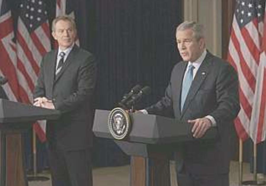 Bush, Blair want to 'unlock peace door'
