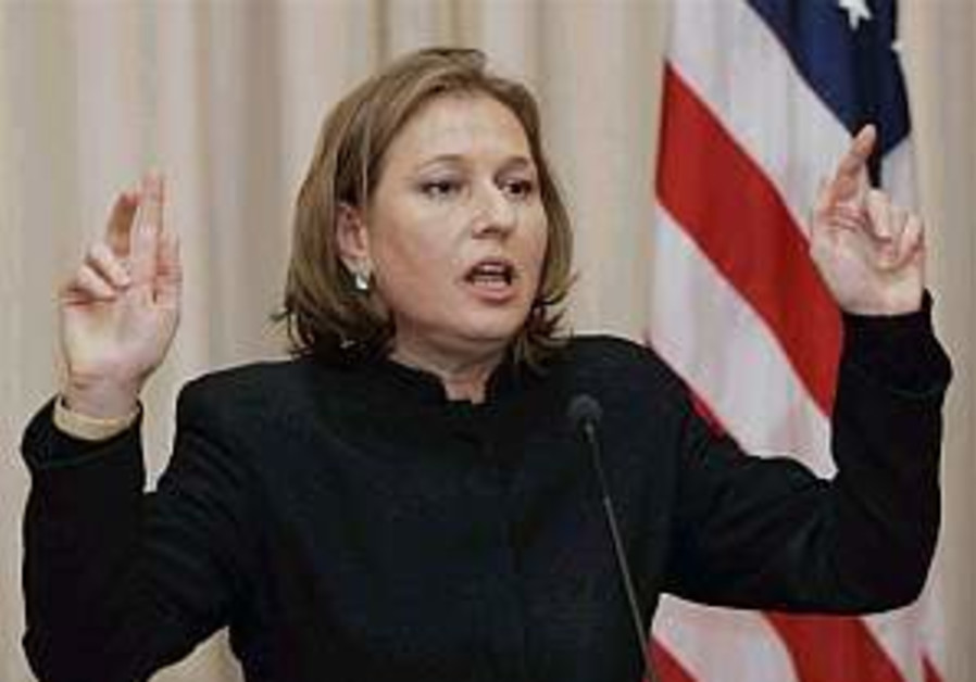 Livni rejects Baker report's argument