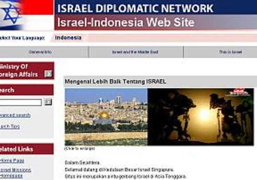 Israel launches Web site in Indonesian