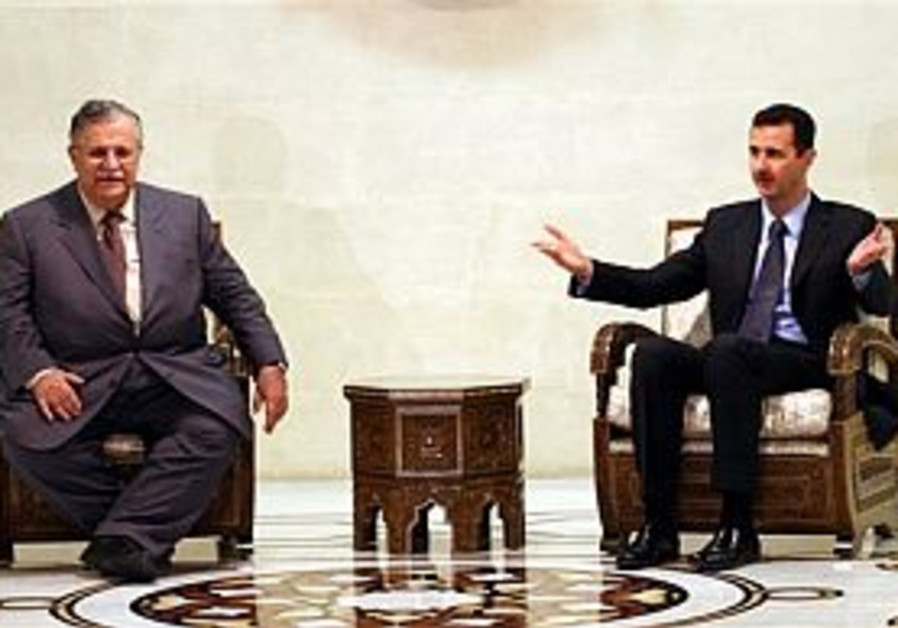 Talabani meets with Assad in landmark visit to Syria