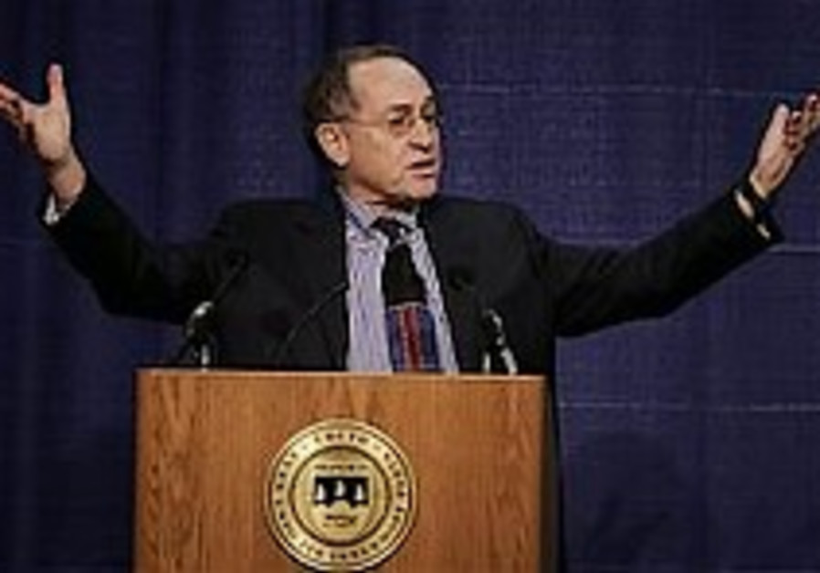 Dershowitz backtracks in divestment flap