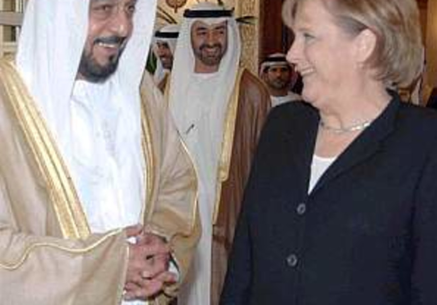 Merkel criticizes Iran and Syria