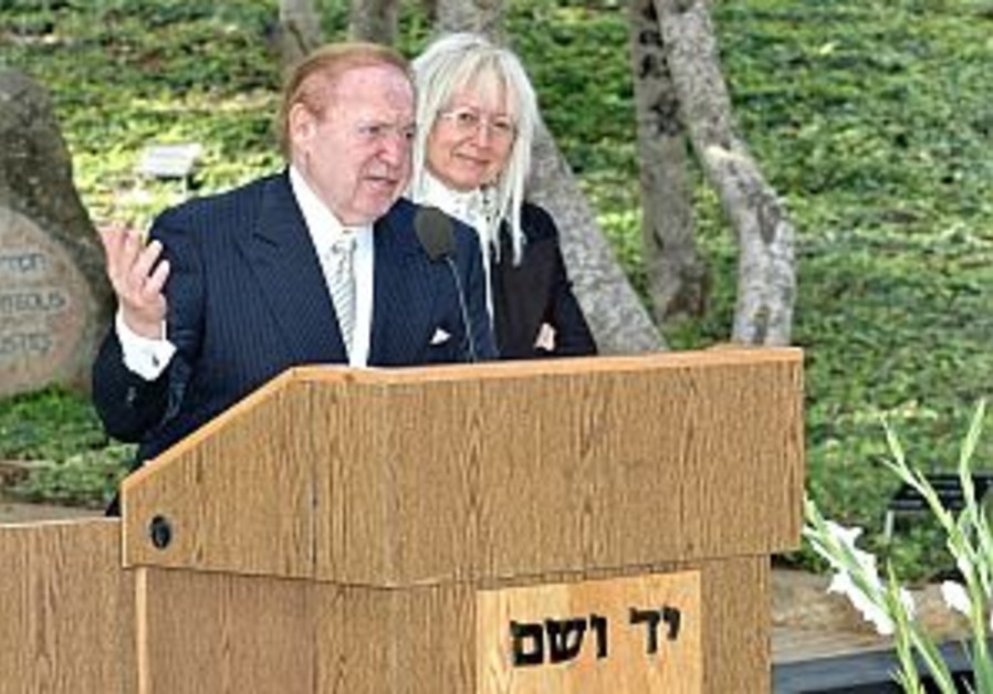 Billionaire Adelson donates $25m. to birthright
