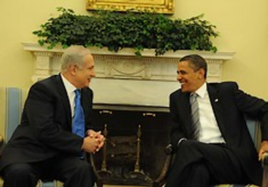 Prime Minister Binyamin Netanyahu (left) and US Pr