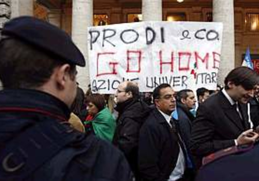 Prodi resigns after vote on Afghanistan