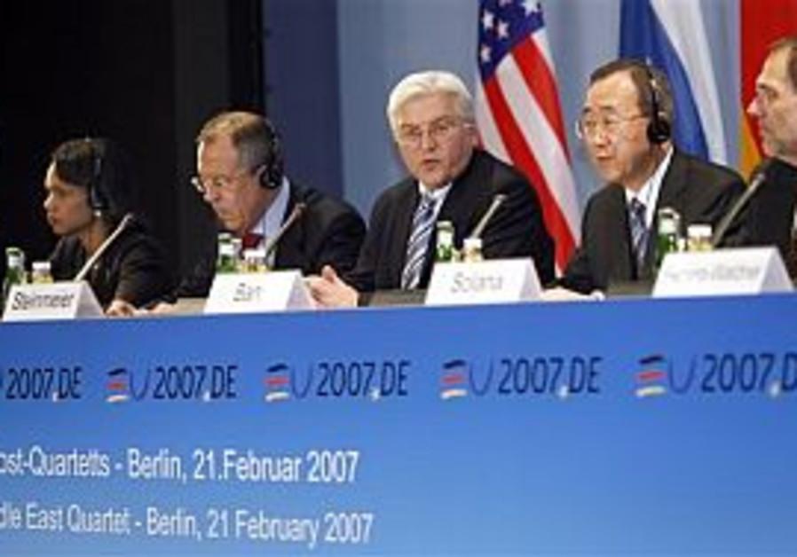 Quartet maintains PA recognize Israel