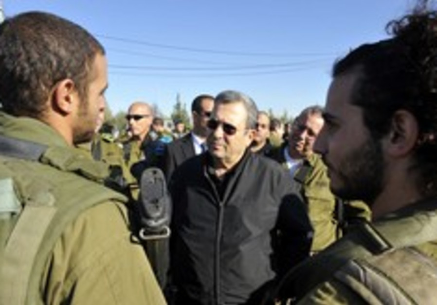 ehud barak judea and samaria soldiers