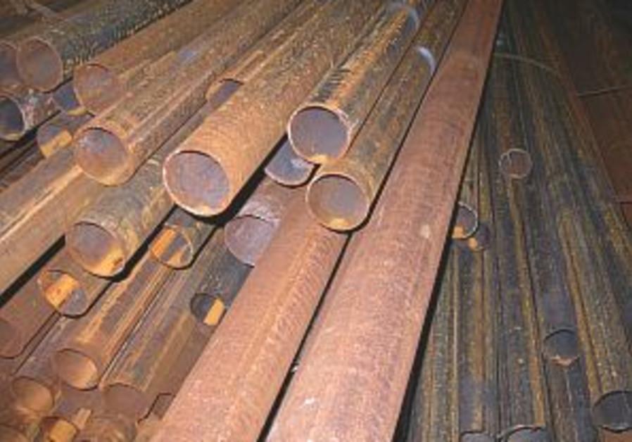 Israeli metal used for Kassam rockets