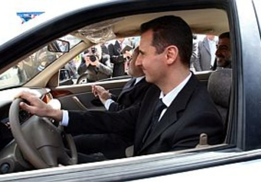 assad driving and happy 298 ap