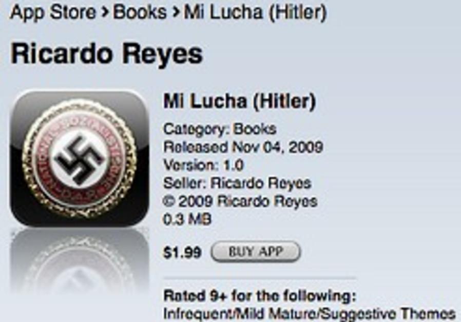 nazi sign on iphone app 248.63