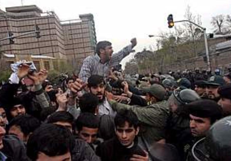 Iran: Violence erupts at UK embassy