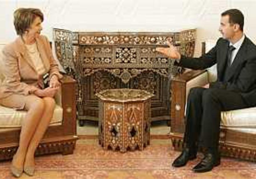 Pelosi tells Assad: Israel ready to talk