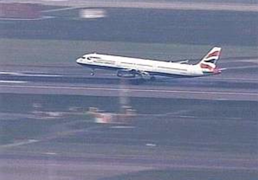 UK sailors arrive at Heathrow Airport