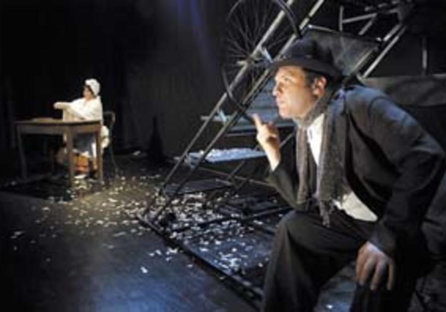 Menachem Mendel on stage